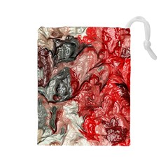 Strange Abstract 3 Drawstring Pouches (Large)