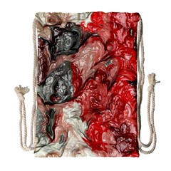 Strange Abstract 3 Drawstring Bag (large)