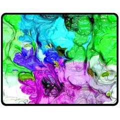 Strange Abstract 4 Fleece Blanket (Medium)