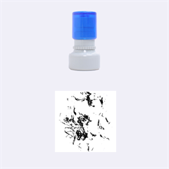 Strange Abstract 4 Rubber Round Stamps (Small)