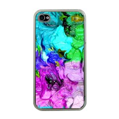 Strange Abstract 4 Apple iPhone 4 Case (Clear)