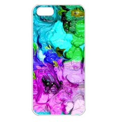 Strange Abstract 4 Apple iPhone 5 Seamless Case (White)