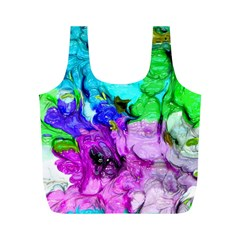 Strange Abstract 4 Full Print Recycle Bags (M)