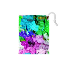 Strange Abstract 4 Drawstring Pouches (Small)