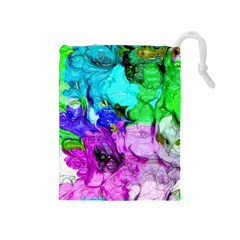 Strange Abstract 4 Drawstring Pouches (Medium)