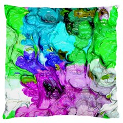 Strange Abstract 4 Large Flano Cushion Cases (One Side)