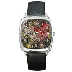 Strange Abstract 5 Square Metal Watches
