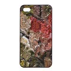 Strange Abstract 5 Apple Iphone 4/4s Seamless Case (black)