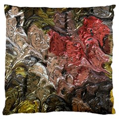 Strange Abstract 5 Large Flano Cushion Cases (Two Sides)