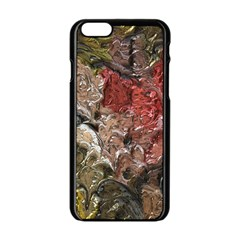 Strange Abstract 5 Apple iPhone 6/6S Black Enamel Case