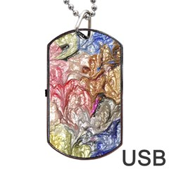 Strange Abstract 6 Dog Tag USB Flash (One Side)