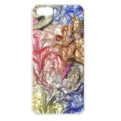 Strange Abstract 6 Apple iPhone 5 Seamless Case (White)