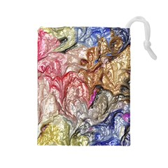 Strange Abstract 6 Drawstring Pouches (Large)