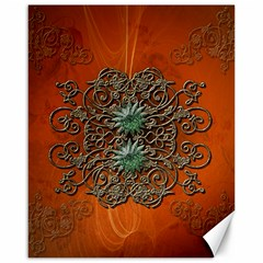 Wonderful Floral Elements On Soft Red Background Canvas 16  x 20