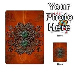 Wonderful Floral Elements On Soft Red Background Multi Purpose Cards (rectangle)