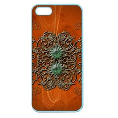 Wonderful Floral Elements On Soft Red Background Apple Seamless iPhone 5 Case (Color)