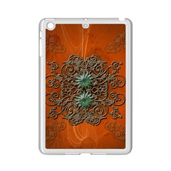 Wonderful Floral Elements On Soft Red Background iPad Mini 2 Enamel Coated Cases