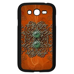 Wonderful Floral Elements On Soft Red Background Samsung Galaxy Grand DUOS I9082 Case (Black)