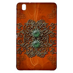 Wonderful Floral Elements On Soft Red Background Samsung Galaxy Tab Pro 8.4 Hardshell Case