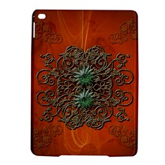 Wonderful Floral Elements On Soft Red Background iPad Air 2 Hardshell Cases