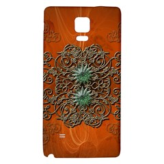 Wonderful Floral Elements On Soft Red Background Galaxy Note 4 Back Case