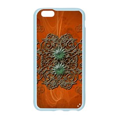 Wonderful Floral Elements On Soft Red Background Apple Seamless iPhone 6/6S Case (Color)