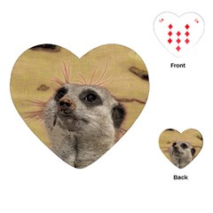 Meerkat 2 Playing Cards (heart)