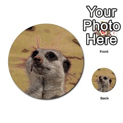Meerkat 2 Multi Purpose Cards (round)