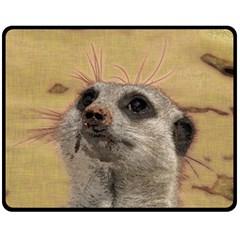 Meerkat 2 Fleece Blanket (Medium)