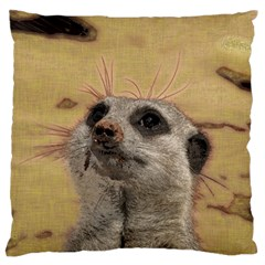 Meerkat 2 Large Flano Cushion Cases (Two Sides)