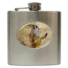 Lovely Meerkat 515p Hip Flask (6 oz)