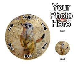 Lovely Meerkat 515p Playing Cards 54 (round)