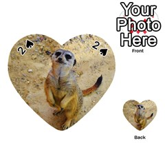 Lovely Meerkat 515p Playing Cards 54 (Heart)
