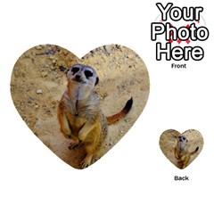 Lovely Meerkat 515p Multi-purpose Cards (Heart)