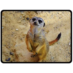 Lovely Meerkat 515p Fleece Blanket (Large)