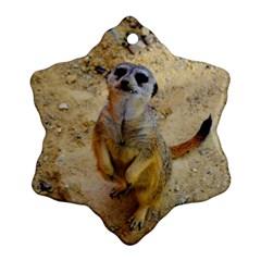 Lovely Meerkat 515p Snowflake Ornament (2-Side)