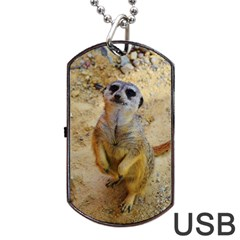 Lovely Meerkat 515p Dog Tag Usb Flash (one Side)