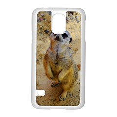 Lovely Meerkat 515p Samsung Galaxy S5 Case (White)