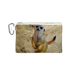 Lovely Meerkat 515p Canvas Cosmetic Bag (S)