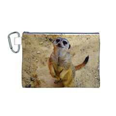 Lovely Meerkat 515p Canvas Cosmetic Bag (M)