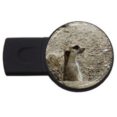 Adorable Meerkat USB Flash Drive Round (2 GB)