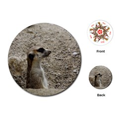 Adorable Meerkat Playing Cards (round)