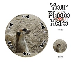 Adorable Meerkat Playing Cards 54 (Round)
