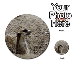 Adorable Meerkat Multi Purpose Cards (round)