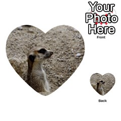 Adorable Meerkat Multi Purpose Cards (heart)
