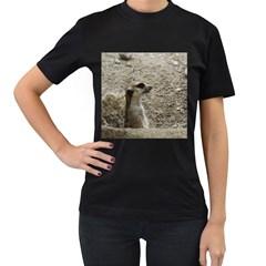 Adorable Meerkat Women s T-Shirt (Black)