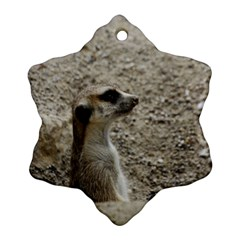 Adorable Meerkat Ornament (Snowflake)