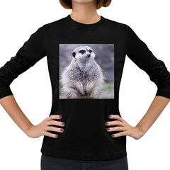 Adorable Meerkat 03 Women s Long Sleeve Dark T-Shirts