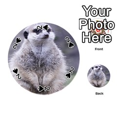 Adorable Meerkat 03 Playing Cards 54 (Round)