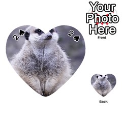 Adorable Meerkat 03 Playing Cards 54 (Heart)